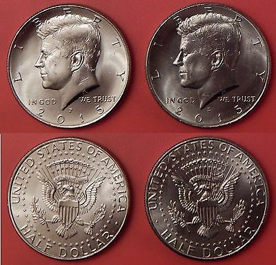 Brilliant Uncirculated 2015 P & D US Kennedy 50 Cents From Mint's Rolls