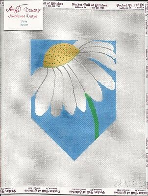 Daisy Banner Handpainted Canvas w/ Amy Bunger Stitch Guide - Beth Hunt