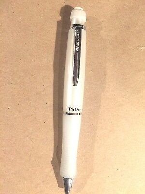 Sanford Paper Mate PhD Pencil .5mm (new) Great buy. Rare. Collectible.(White)