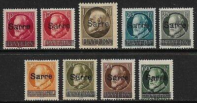 GERMANY 1920 Saar Ludwig Overprints Selection MH/* (Cat £90)