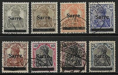 GERMANY 1920 Saar Germania Overprints Selection Used (Cat £60+)