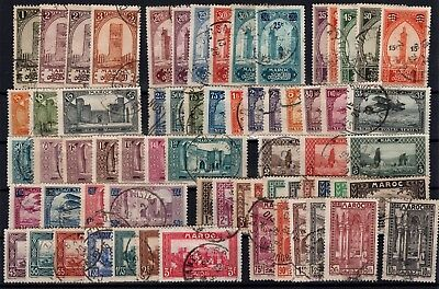 P43369/ Maroc Français / French Morocco / Lot 1922 - 1934 Obl / Used 129 €