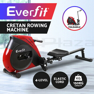 Everfit Rowing Exercise Machine Rower Resistance Fitness Gym Cardio Strength