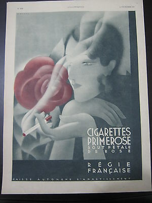 an old  advertising  for primrose , franch cigarettes , 1931