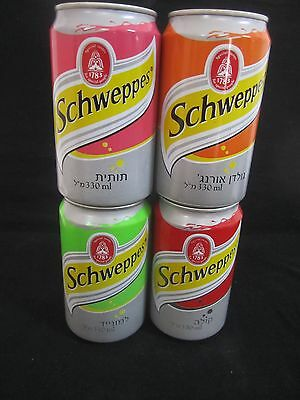 Schweppes  israel: 4 x empty 330ml  cans, a  complete set of  2007
