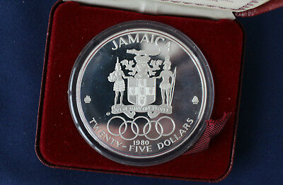 1980 Jamaica $25. Proof Silver Coin M1219