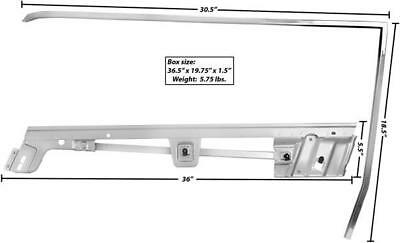 1967-68 Mustang Coupe Door Window Frame 2-Pieces Kit LH New