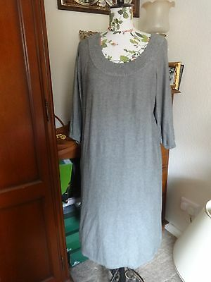 Women Grey Silk Blend Jersey Dress by IN WEAR size 18-20