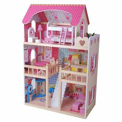 WOODEN DREAM MANSION DOLLS HOUSE by LEOMARK NEW BOXED