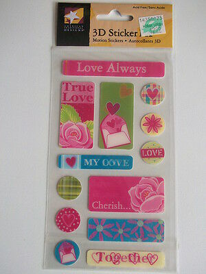AMERICAN TRADITIONAL 3D FX MOTION STICKERS - LOVE ALWAYS Valentine's day