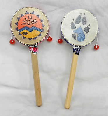 Hand Made & Painted South American Monkey Drum - NEW