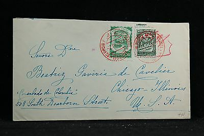 Colombia: 1923 SCADTA Airmail Cover to the USA, Red Cancels