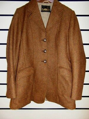"""CALDENE - 60% Wool tweed, BROWN horse riding/show Jacket. 34"""" Chest Ex Condition"""