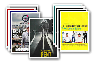 PET SHOP BOYS - 10 promotional posters - collectable postcard set # 2