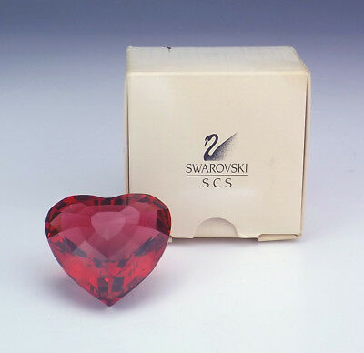 Swarovski Crystal Glass - Red Heart Formed Paperweight - Boxed!