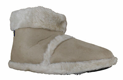 Womens/Girls Coolers Furry Warm Lined Ankle Booties Snug Slippers Sizes 2 to 7