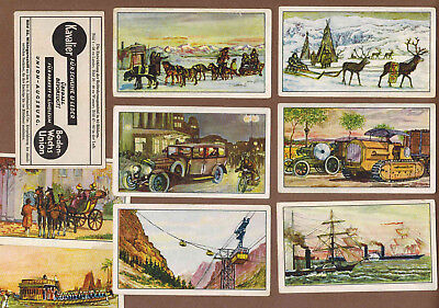 TRANSPORTATION: Collection of 37 Scarce German KAVALIER Trade Cards (1920)