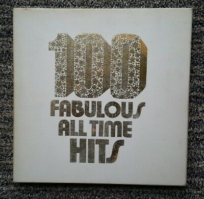 "6 x 33rpm LPs World Record Club ""100 Fabulous All Time Hits"" 50s to 1972"
