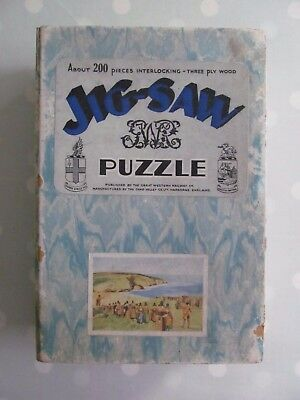 Vintage Gwr Wooden Jigsaw Puzzle The Fishguard Army 1797 Chad Valley Complete