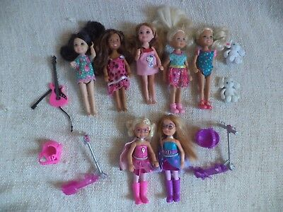 barbie-chelsea dolls including princess power