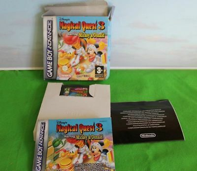 Game Boy Advance Disney Magical Quest 3 Nintendo Boxed  Instruction And Cartrid