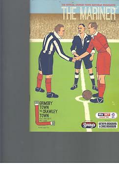 PROGRAMME - GRIMSBY TOWN v CRAWLEY TOWN - 14 OCTOBER 2017
