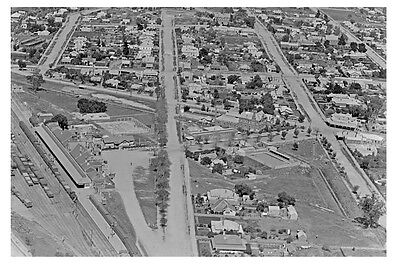 MARYBOROUGH Victoria Town and Rail Aerial 1926 modern Digital photo Postcard