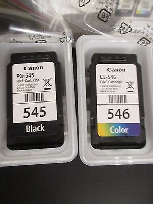2Canon EMPTY Ink Cartridges 1 x Black 545 1 x Colour 546 USED