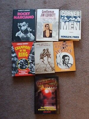 7 x Various Boxing Books Listed