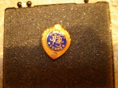 Vintage J L Hudson Detroit 10K gold 15 years of service pin olive leaf edge