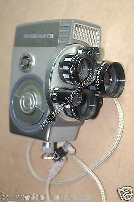 Yashica 8 E III 8mm multi lenses movie camera vintage collection deco retro