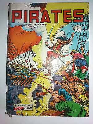 bd PIRATES BRIK  N°  21 mon journal  02-1966