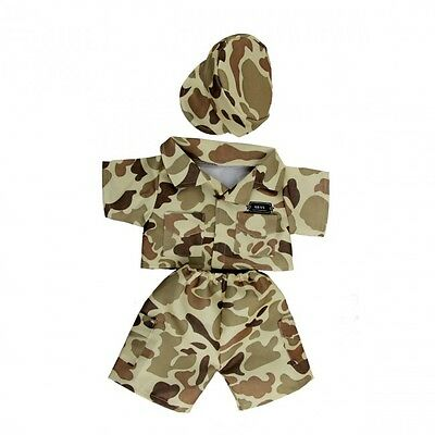 """Army Camo Costume outfit teddy bear clothes fits 15"""" Build a Bear"""