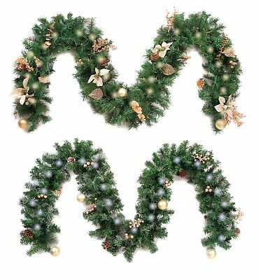 Best Artificial Decorated Gold or Gold Frosted Luxury Christmas Garland Lights