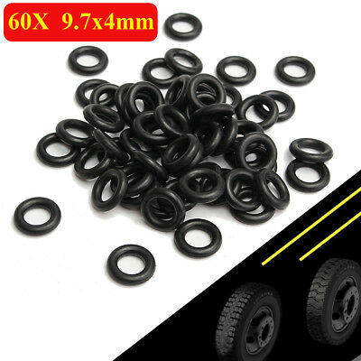 60Pcs Rubber Tyre Tire Changer Foot Pedal Air Control Valve Seal Ring 9.7x4mm