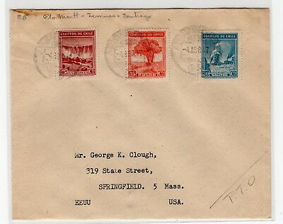 Chile 1947 TPO train railway cancellation number 85