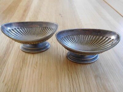 Pair Of Silver Plated Salts