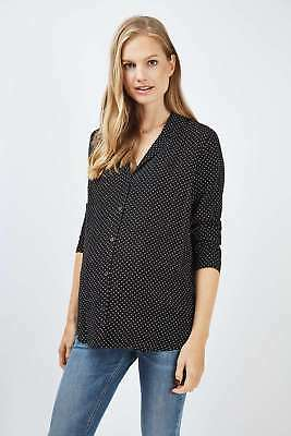 Ladies TOPSHOP Maternity Pinspot Blouse Size 12 Worn Once