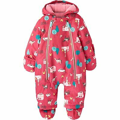 JOULES Baby Everly Pink Gymkhana Snowsuit Warm All in One  3-6 m FreeUKP&P