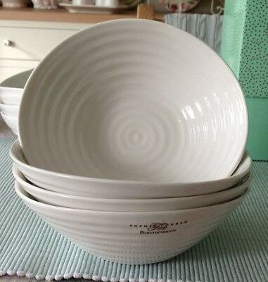 Sophie Conran For Portmeirion 4 x Cereal Bowls White New