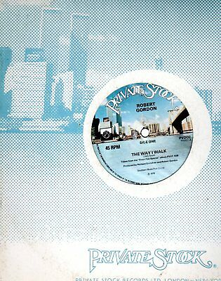 "Robert Gordon The Way I Walk / Sea Cruse Uk 12"" Single 1978 Private Stock Pvdd2"