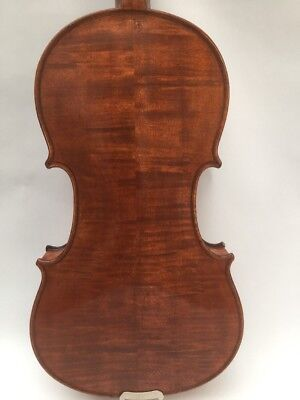 Antique Violin 4/4 Size Nice Flaming/Tiger Striped Back
