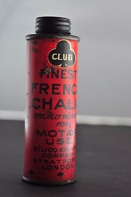 Vintage Club Finest French Chalk for 'Motor Use'. Amazing unused condition. 9cm