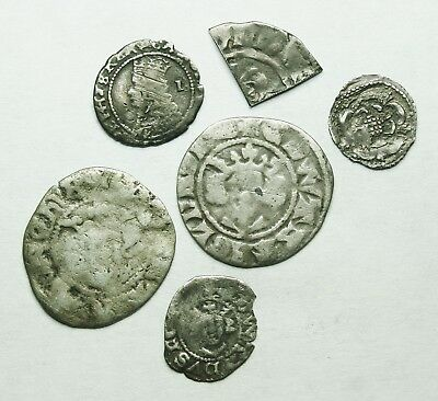 Interesting Selection Of Six Silver Hammered Units (150Y)