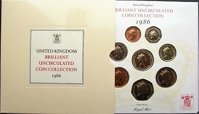 UK Elizabeth II 1986 Uncirculated Coin Set.... Ideal Year of Birth Gift