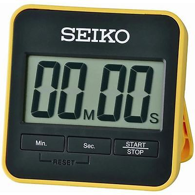 Seiko QHY001Y Digital Countdown Timer and Stopwatch with Folding Stand New