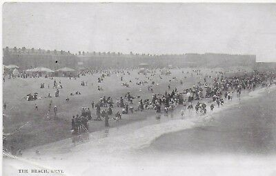 VINTAGE Postcard The Beach Rhyl Pictorial Post Card Unposted