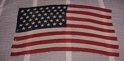 "Antique c1896 45 Star American Flag United States USA 19"" x 33"" Spanish War"