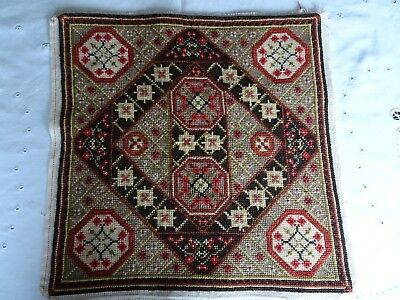 Vintage Tapestry Needlepoint Complete Cushion Front