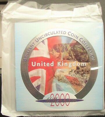 UK Elizabeth II 2000 Uncirculated Coin Set Mint Sealed  Ideal Year of Birth Gift